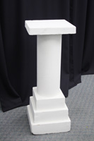 "36"" White Pedestal Foam"