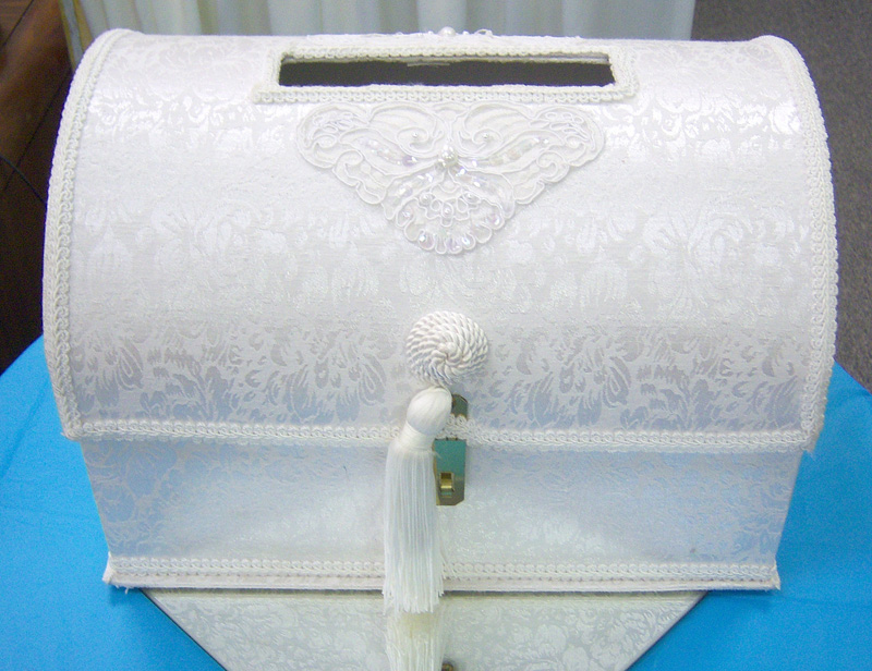Rental Details for Ceremonies Glassware partyproiowa – Wedding Treasure Chest Card Box